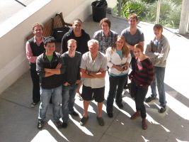 Gil with his seminar students at Griffith Film School --Brisbane, Australia