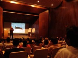 Lecturing at the National Conservatory for the Performing Arts in Mumbai